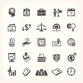 Business and finance icons set, EPS10, Don't use transparency.