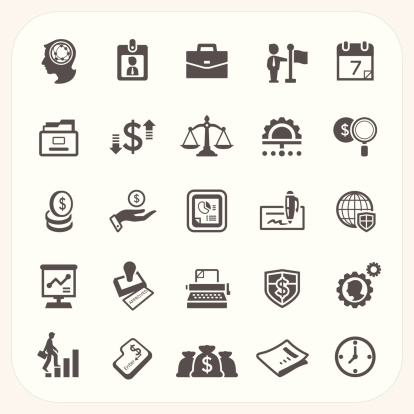 Business And Finance Icons Set Stock Illustration - Download Image Now