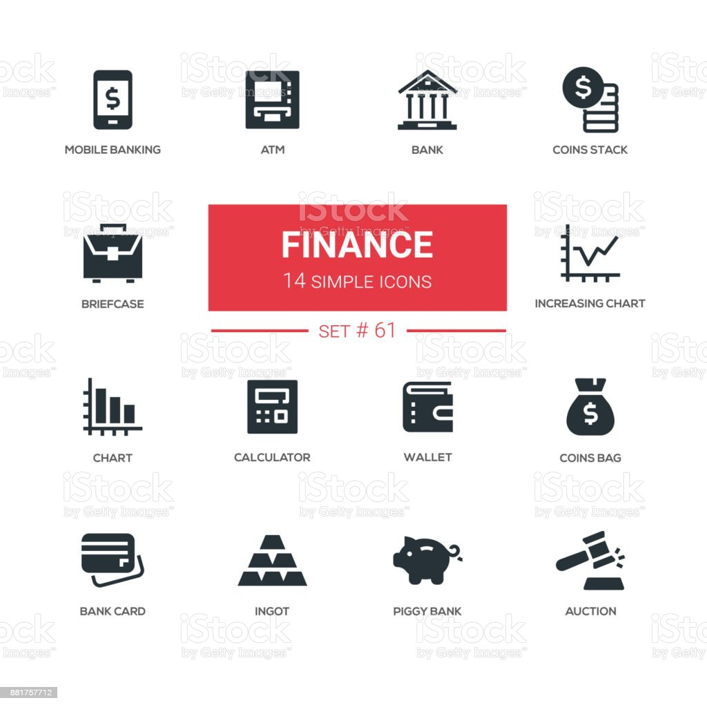 Business and finance - line design icons set vector art illustration