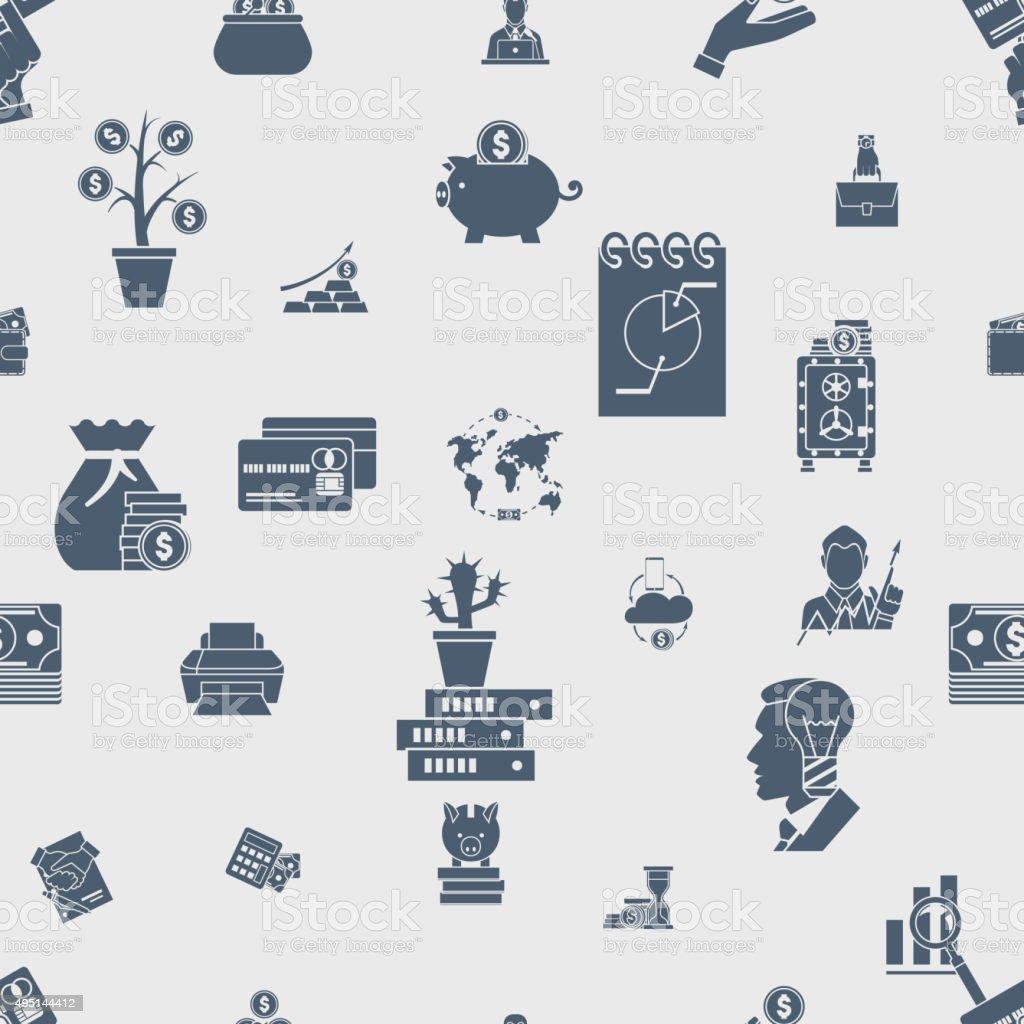 Ilustración de Patrón Sin Costuras De Negocios Y Finanzas y más ...