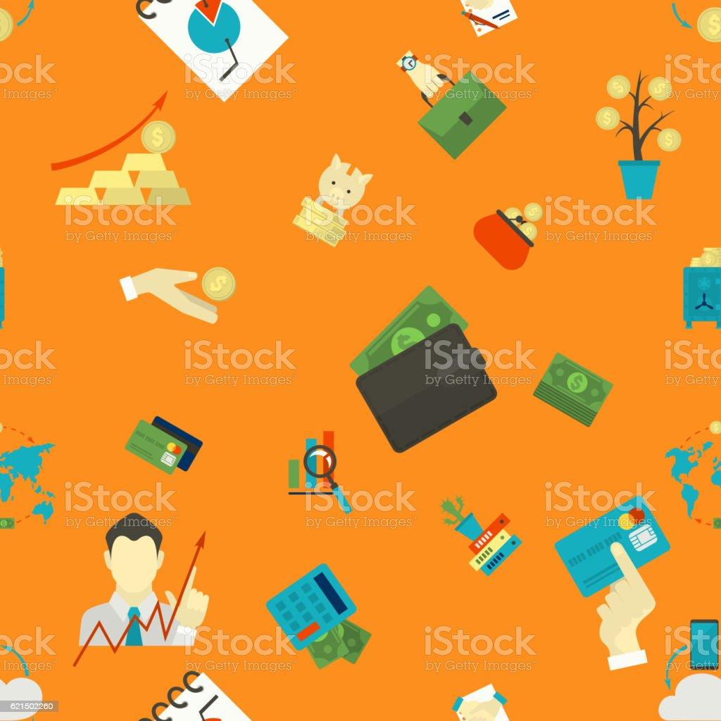 Affaires et Finance motif sans couture. affaires et finance motif sans couture – cliparts vectoriels et plus d'images de accord - concepts libre de droits