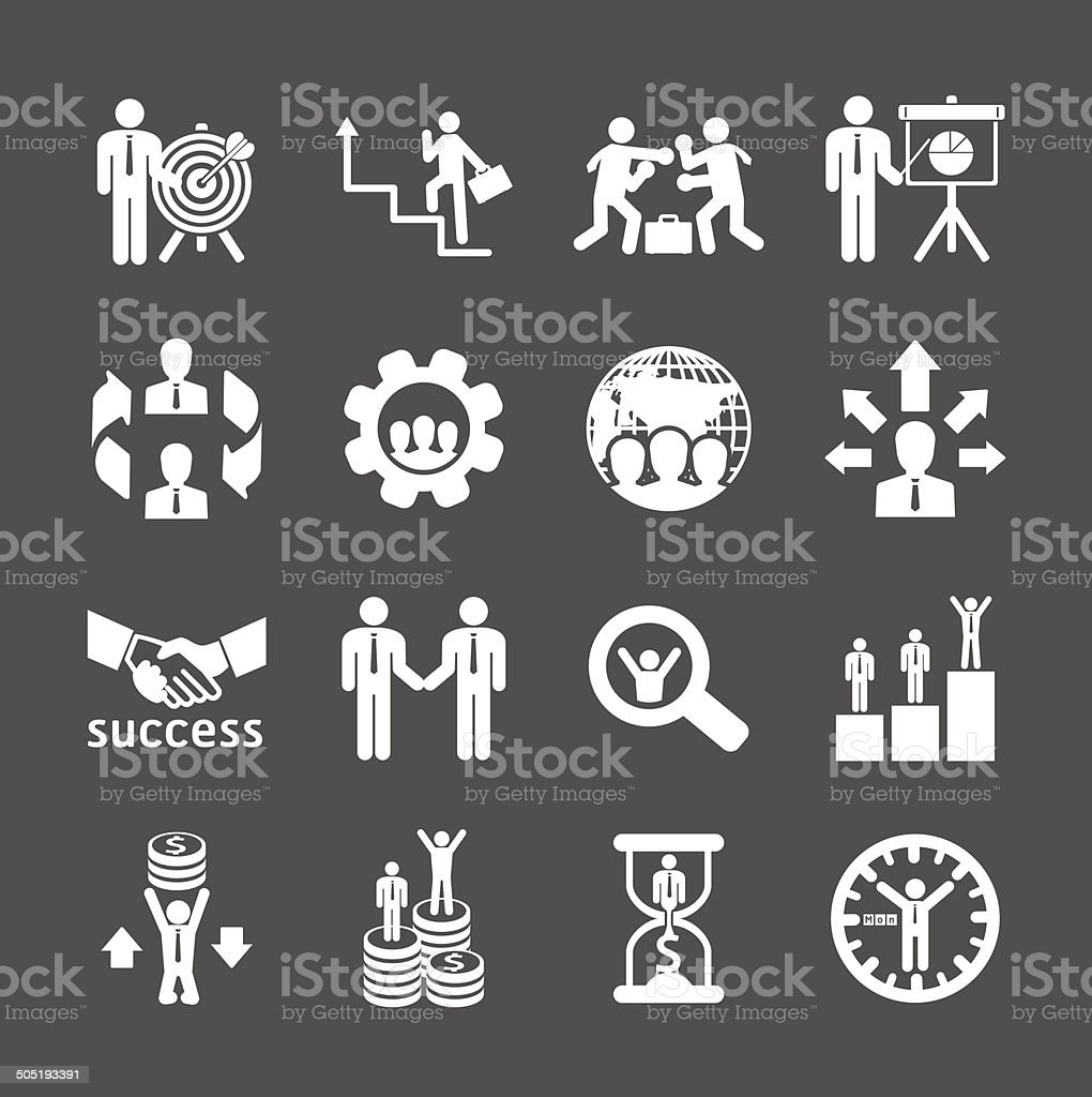 Business and financial Icons set. Vector illustration. vector art illustration