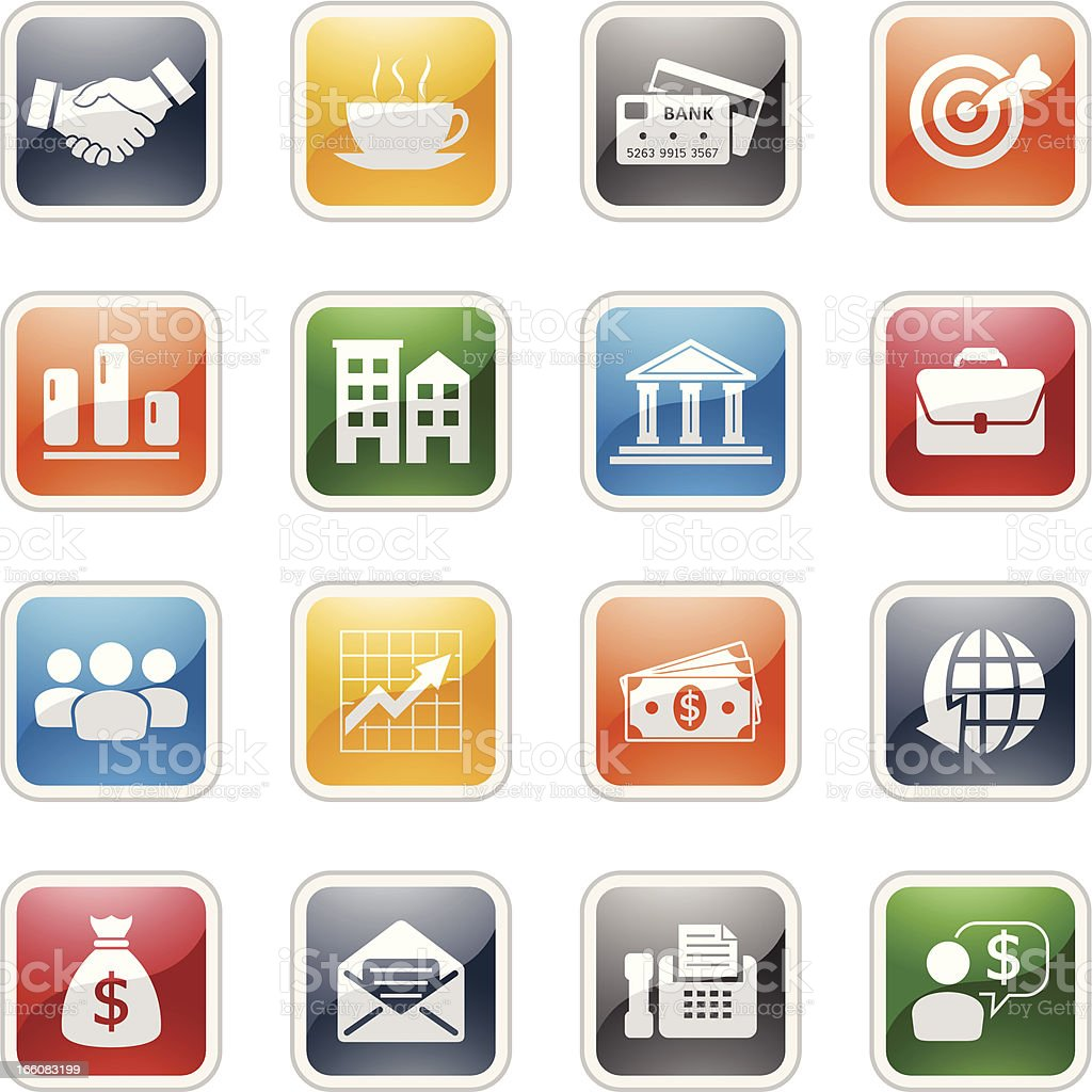 business and financial icons royalty-free business and financial icons stock vector art & more images of bag