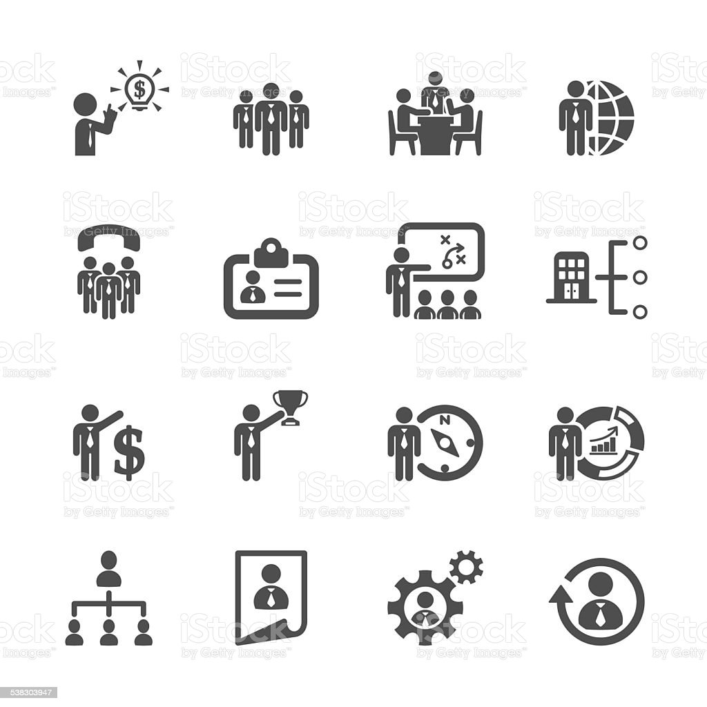 business and human resource management icon set 2, vector eps10 vector art illustration