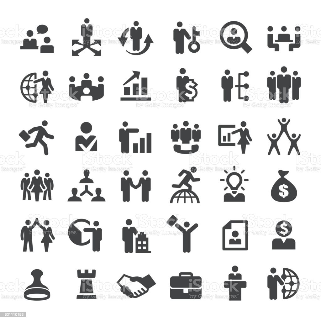 Business and Human Resources Icons - Big Series vector art illustration
