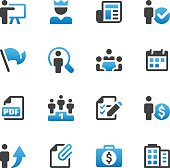 Set of 16 Business and Human Resources vector icons. Easy resize.