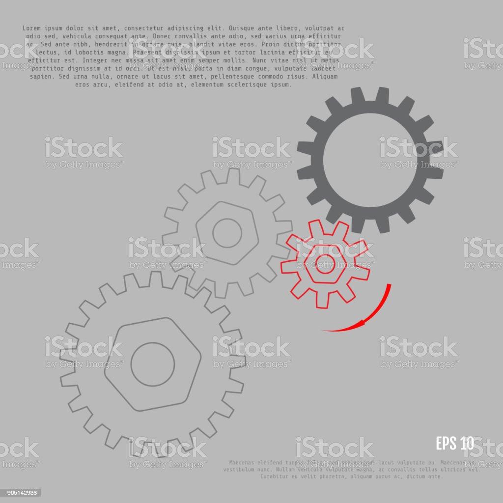 Business and industry concept. Gears. Infographic vector template business and industry concept gears infographic vector template - stockowe grafiki wektorowe i więcej obrazów abstrakcja royalty-free