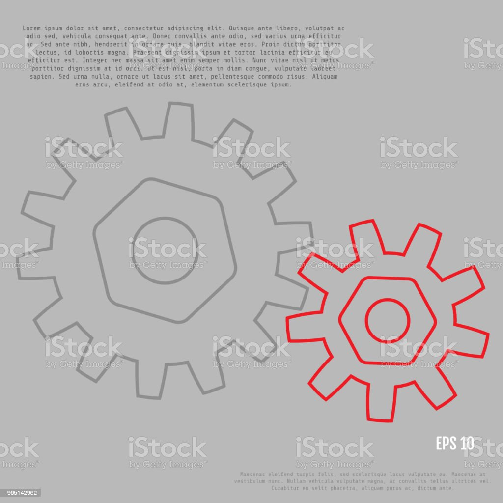 Business and industry concept. Gears. Infographic vector template business and industry concept gears infographic vector template - stockowe grafiki wektorowe i więcej obrazów abstrakcja royalty-free