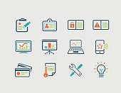 Icons for business, marketing and internet