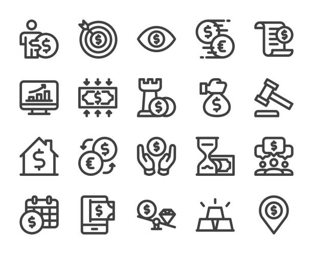 Business and Investment - Bold Line Icons vector art illustration