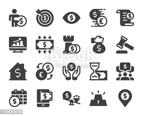 Business and Investment Icons Vector EPS File.