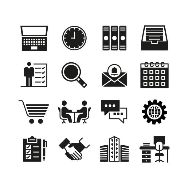 ビジネスおよび管理のアイコンを設定 - 金融と経済点のイラスト素材/クリップアート素材/マンガ素材/アイコン素材