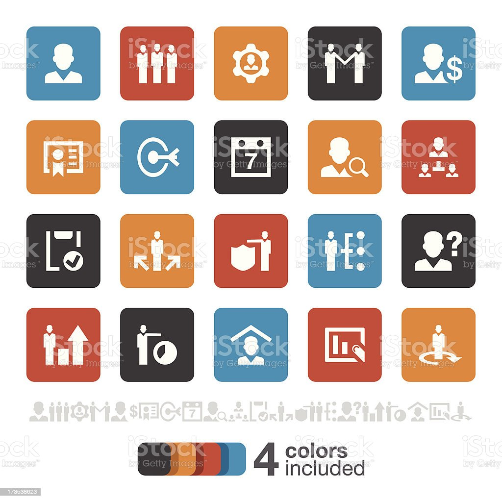Business and Management icons | Brooklyn Series royalty-free stock vector art