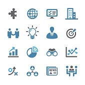 Business and Management Icons Set - Conc Series