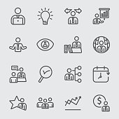 Business and Management line icon