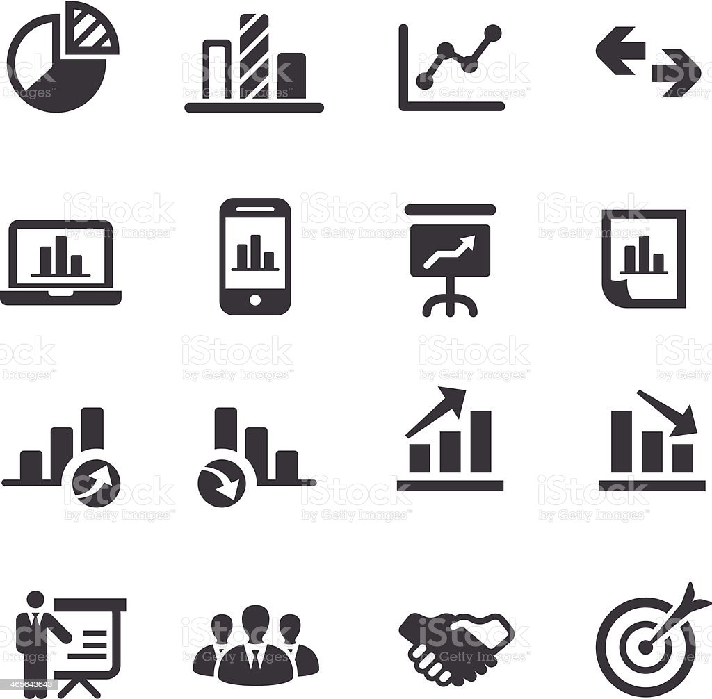 Business and Market Analysis Icons - Acme Series royalty-free business and market analysis icons acme series stock vector art & more images of admiration