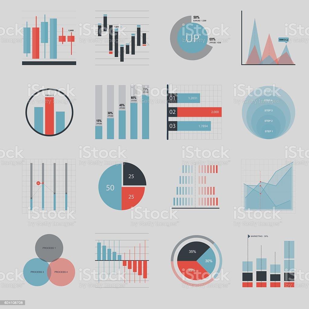 Business and market icon - Illustration vector art illustration