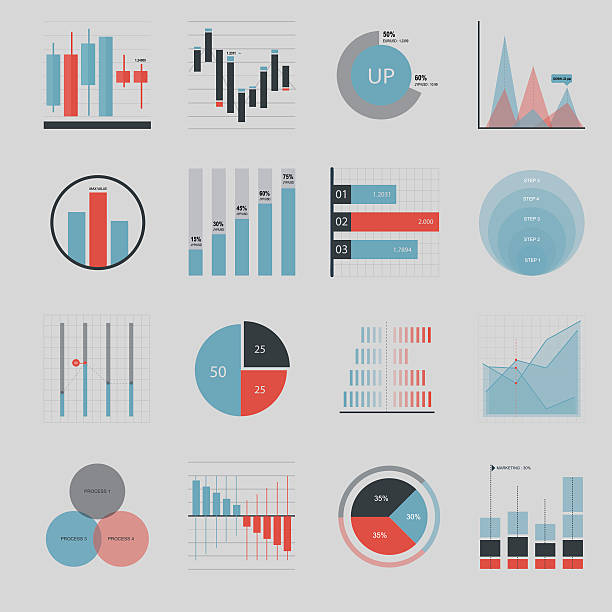 business and market icon - illustration - tabelle stock-grafiken, -clipart, -cartoons und -symbole