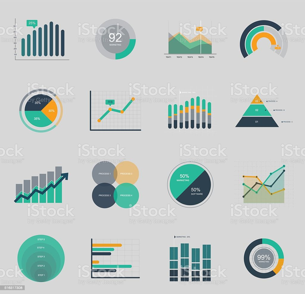 Business and market icon vector art illustration