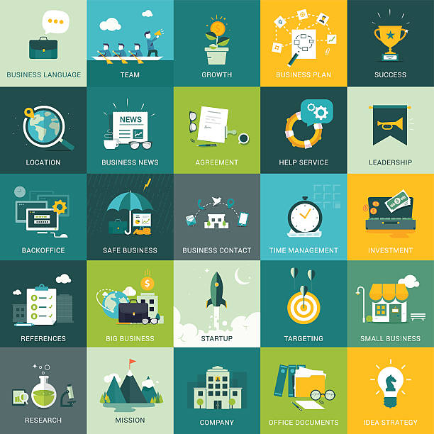 ilustraciones, imágenes clip art, dibujos animados e iconos de stock de negocios, conceptos de marketing - infografías de negocios