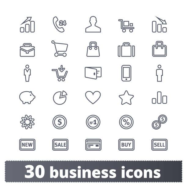 비즈니스와 돈 벡터 아이콘 모음 - 사람 모형 제작물 stock illustrations