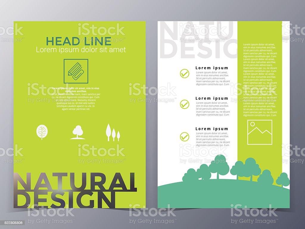 Geschäft und Natur Broschüre Gestaltung Vorlage Vektor – Vektorgrafik