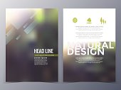 business and nature brochure design template vector