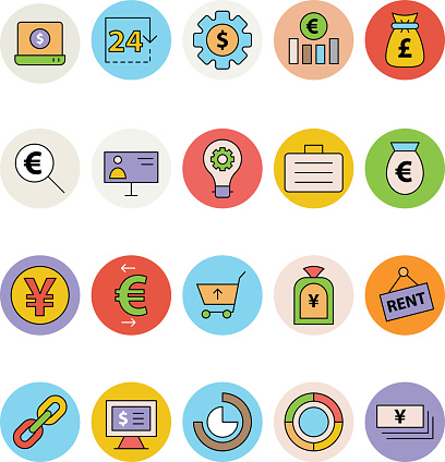 Business and Office Colored Vector Icons 13