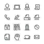 Business and Office Icon - Line Series
