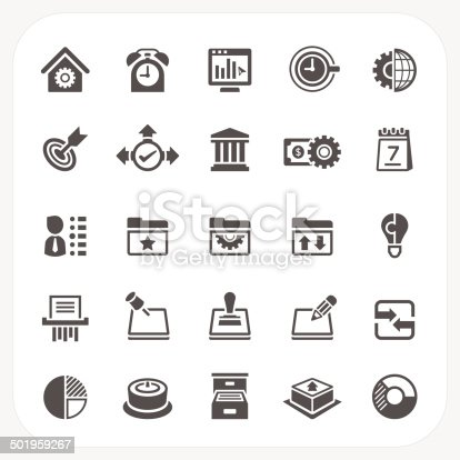 Business and office icons set, EPS10, Don't use transparency.