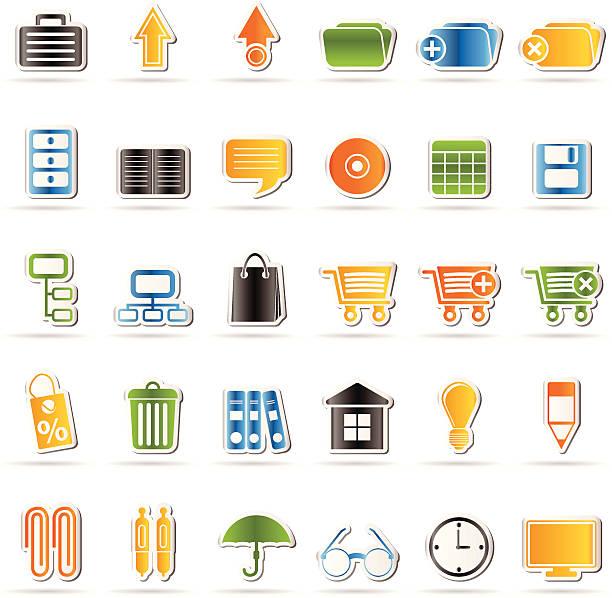 business und office-symbole - schrankkorb stock-grafiken, -clipart, -cartoons und -symbole