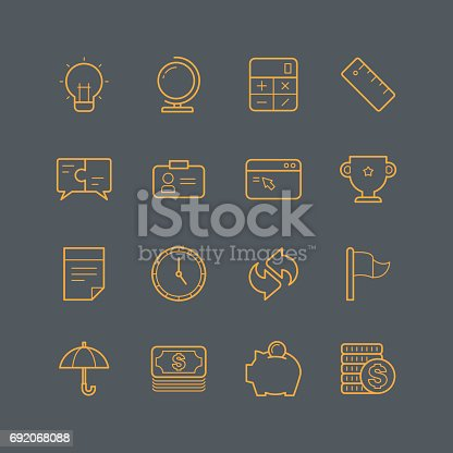 Business and office icons,vector illustration.