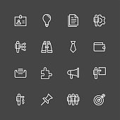 Business and Office icons - White Series Vector EPS File.