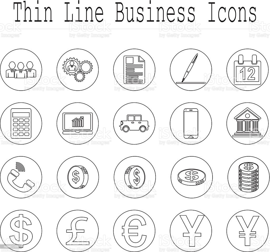 Business and office line icon set. vector  illustrations EPS10 vector art illustration