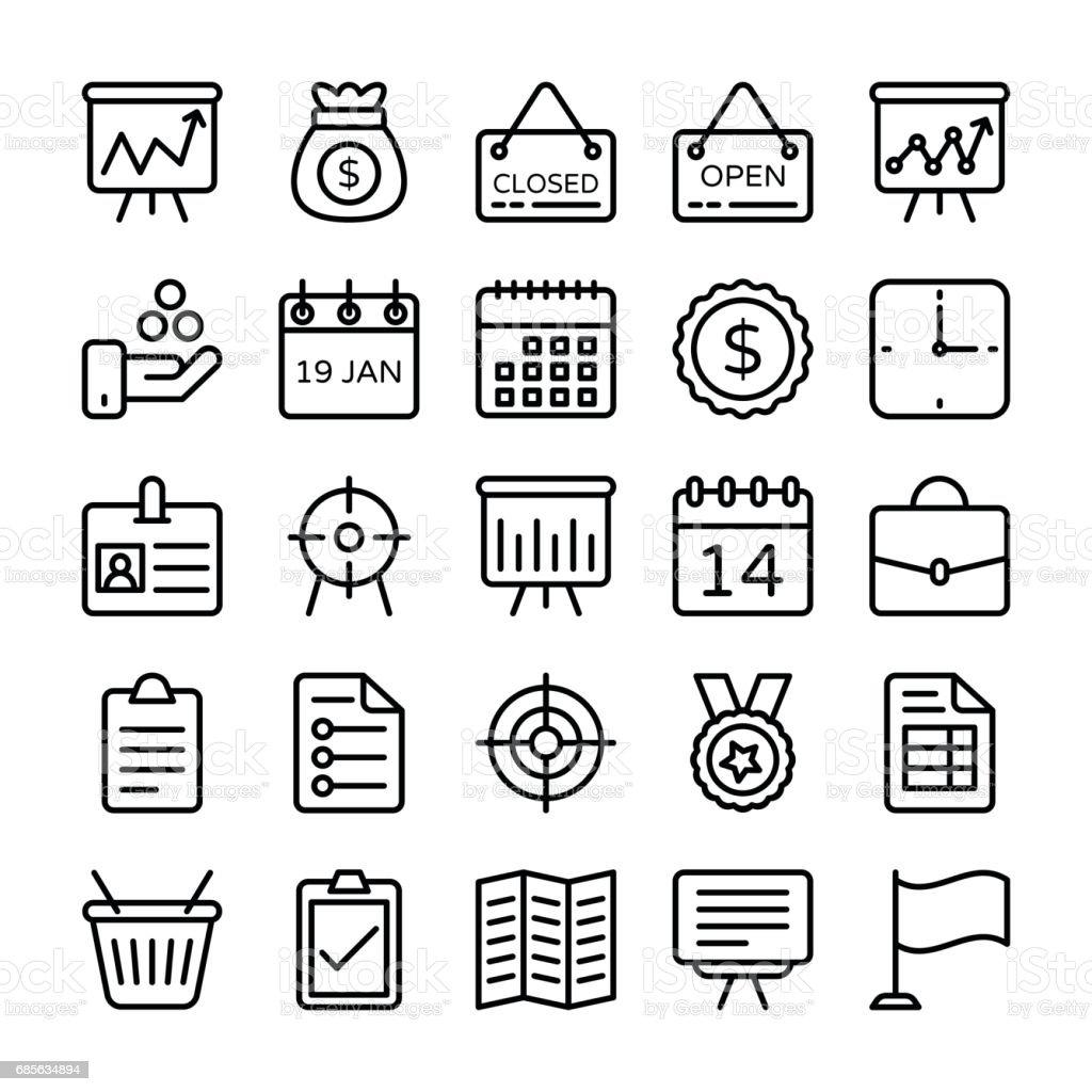 商業和辦公室線向量圖示 17 免版稅 商業和辦公室線向量圖示 17 向量插圖及更多 傳單 圖片