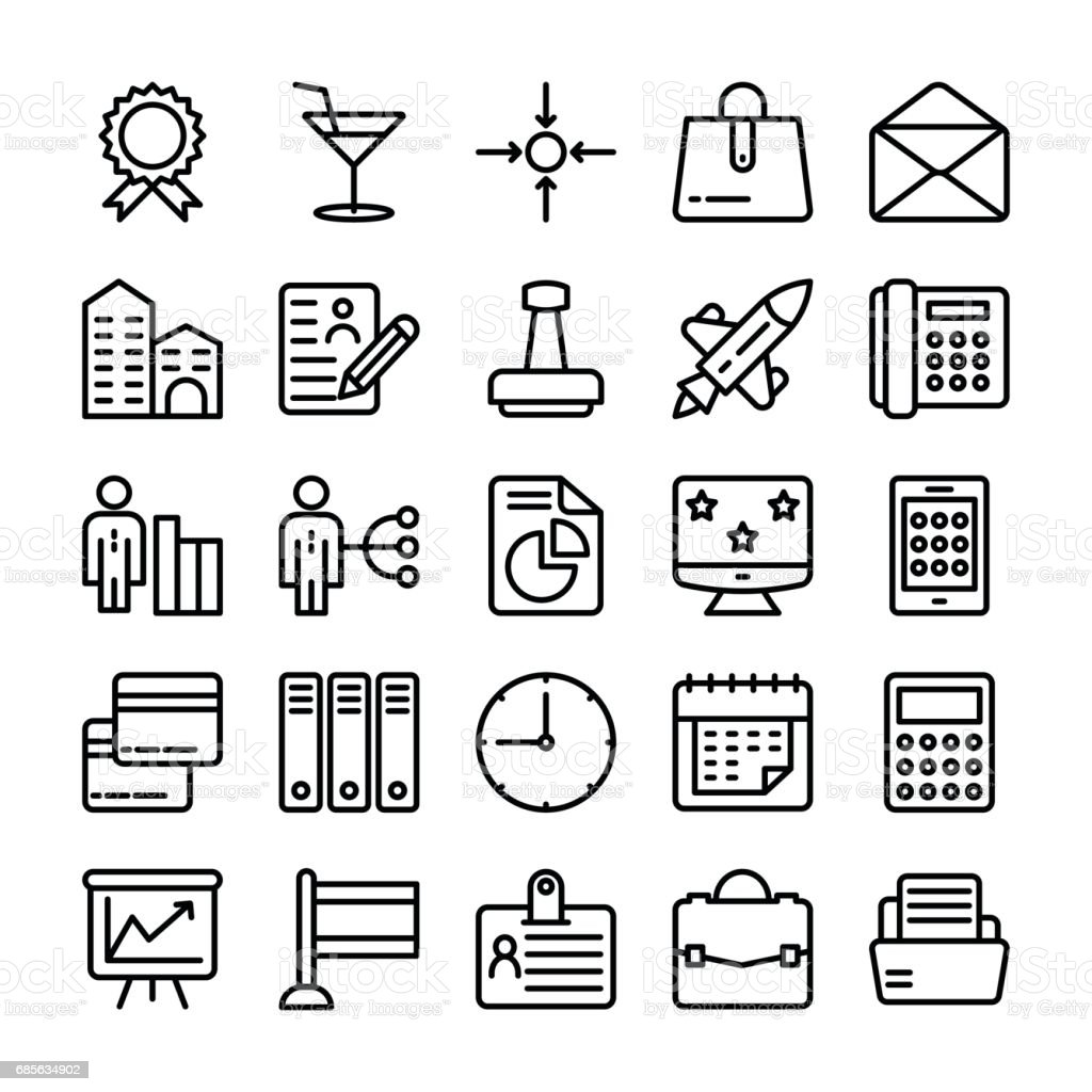Business and Office Line Vector Icons 18 royalty-free business and office line vector icons 18 stock vector art & more images of adult
