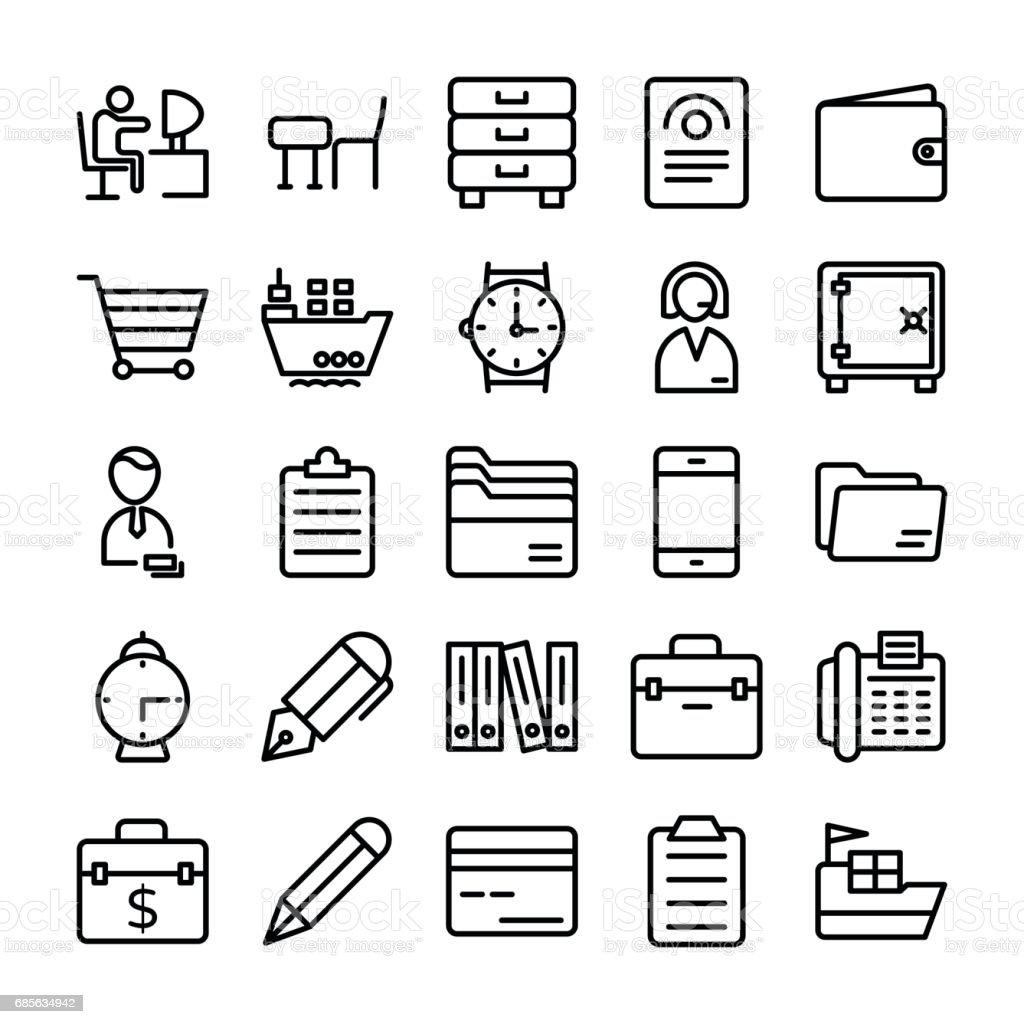 商業和辦公室線向量圖示 8 免版稅 商業和辦公室線向量圖示 8 向量插圖及更多 作品展示包 圖片