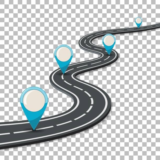 ilustraciones, imágenes clip art, dibujos animados e iconos de stock de negocio y el concepto de progreso - íconos de caminos