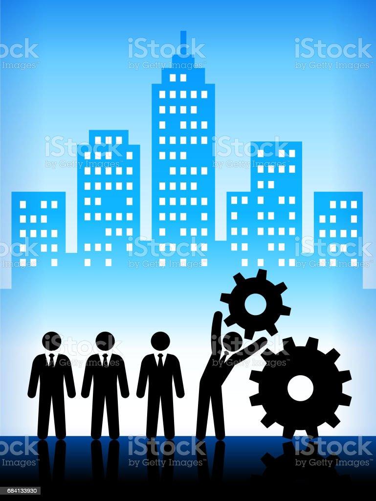 Business en vooruitgang moderne stad achtergrond royalty free business en vooruitgang moderne stad achtergrond stockvectorkunst en meer beelden van achtergrond - gefabriceerd object