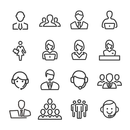 Business and Service Icons - Line Series clipart