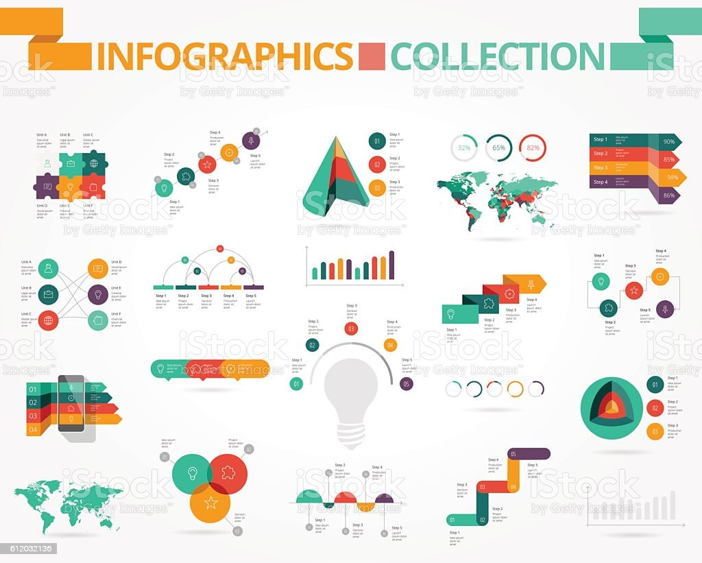 Business and social infographics vector art illustration