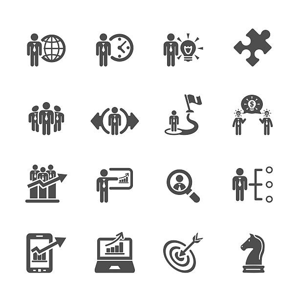 business and strategy icon set 3, vector eps10 business and strategy icon set 3, vector eps10.. topics stock illustrations