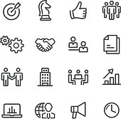 Business and Strategy Icons - Line Series