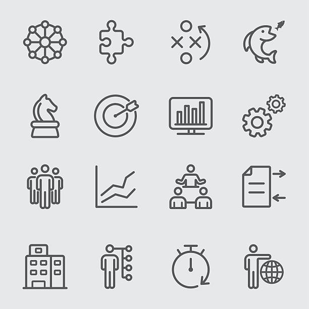 Business and Strategy line icon Business and Strategy line icon community drawings stock illustrations