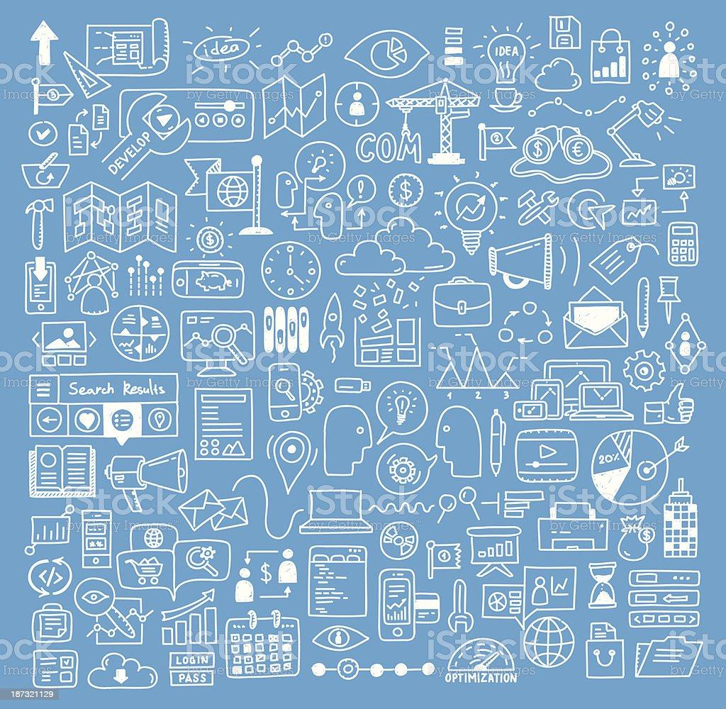 ビジネスやウェブサイト開発スケッチの要素 ベクターアートイラスト
