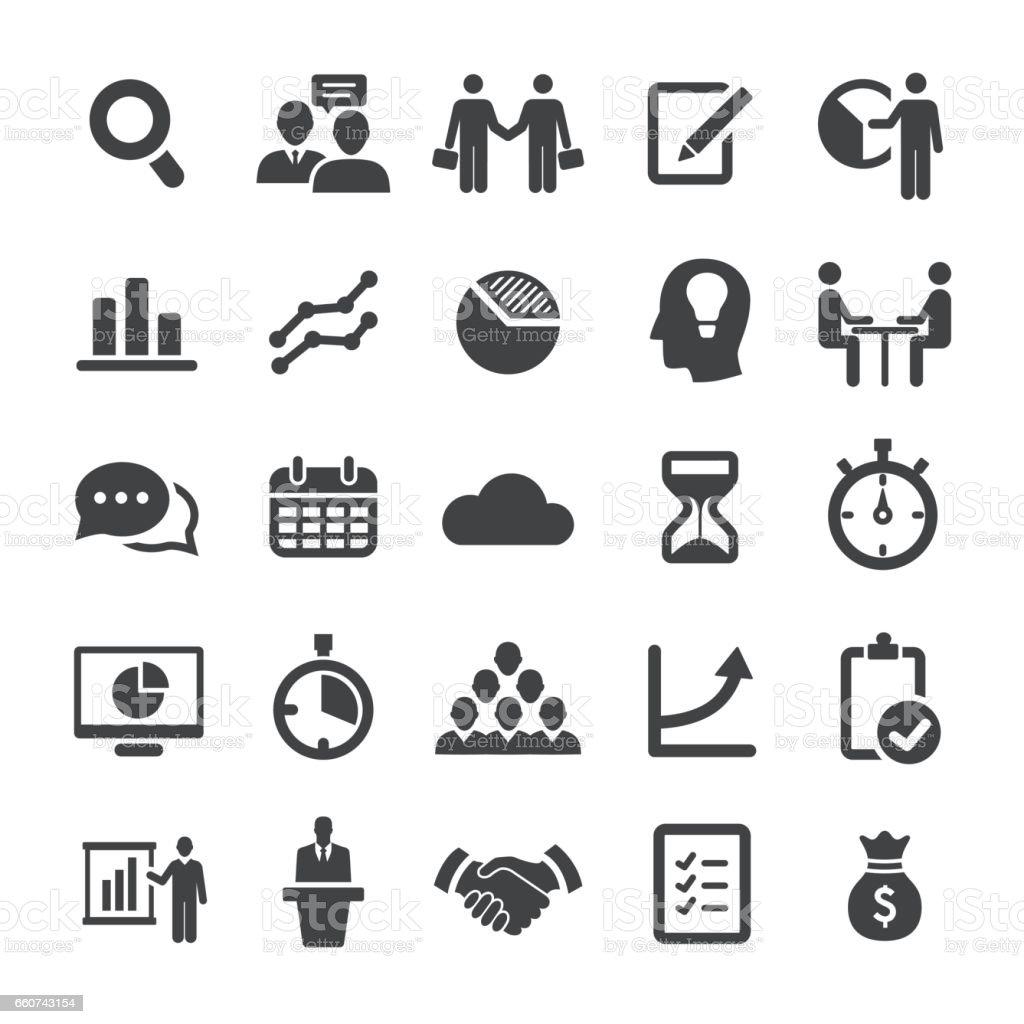 Negócios e fluxo de trabalho ícone - série Smart - ilustração de arte em vetor