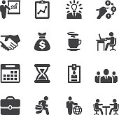 Business and workflow Silhouette icons