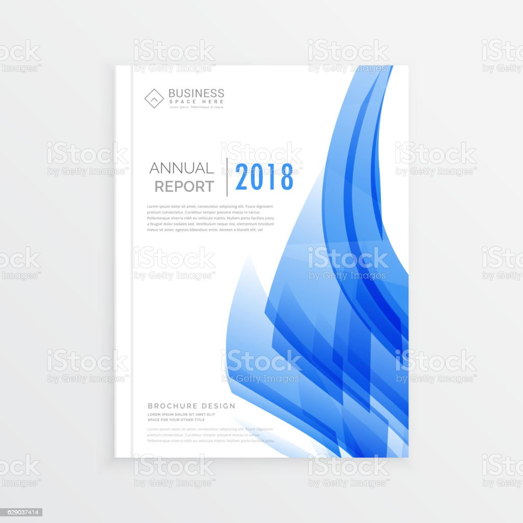 Great Business Annual Report Cover Page Template In A4 Print Size Royalty Free  Business Annual Report Inside Annual Report Cover Page Template