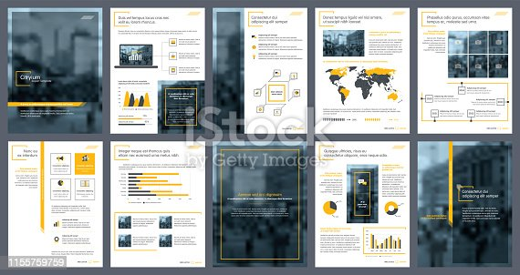 Business annual report creative design. Multipurpose template with cover, back and inside pages for corporate business annual report, brochure template, leaflet, magazine, pamphlet, flyer template.