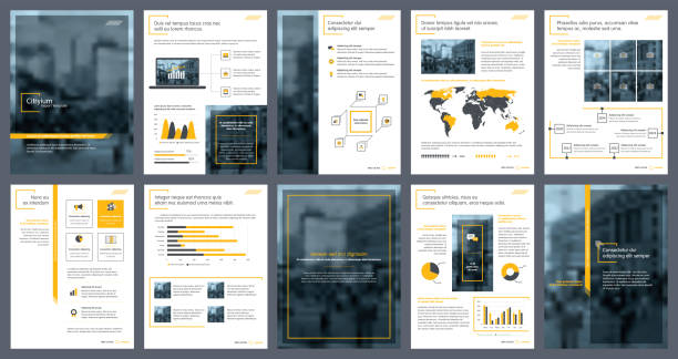 business annual report creative design. report template and presentations. brochure creative design. - annual reports templates stock illustrations